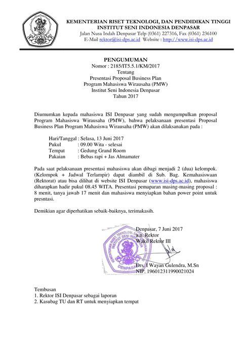 format proposal wirausaha presentasi proposal business plan program mahasiswa