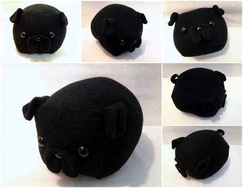 pug loaf pillow black pug loaf medium