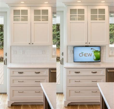 tv in kitchen cabinet 25 best ideas about tv in kitchen on pinterest kitchen