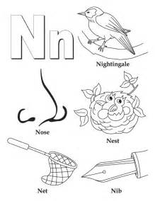color starting with n letter n coloring pages selfcoloringpages