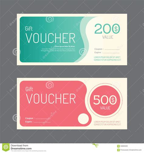 graphic design gift card template portfolio vector gift voucher coupon template design paper label