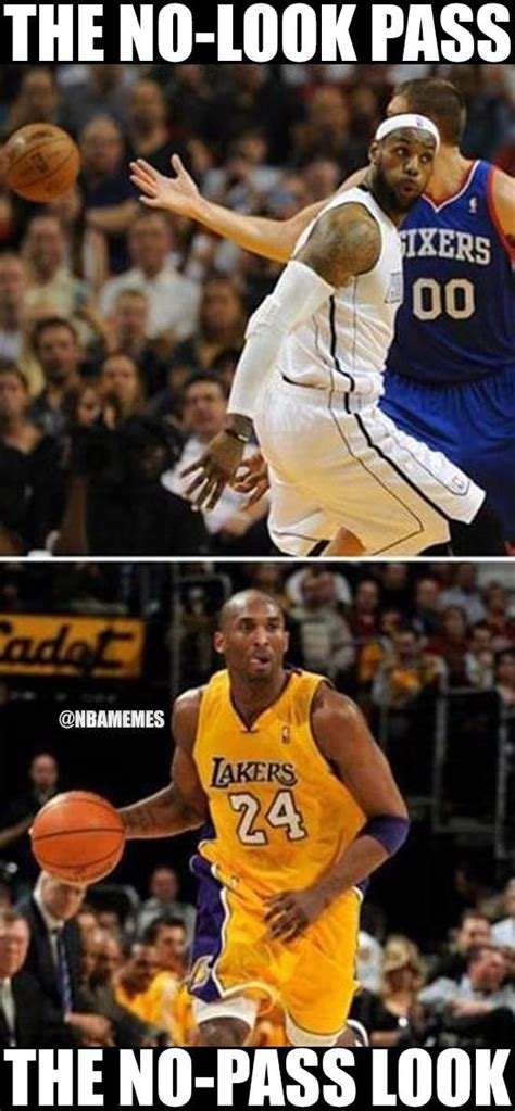 Meme Basketball - the different forms of passing explained in 2 fb photos