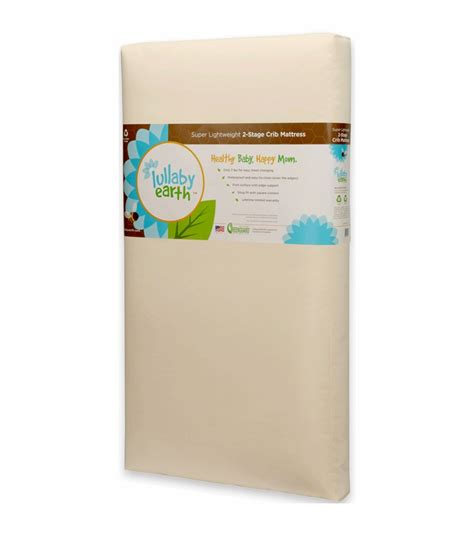 Lullaby Earth Crib Mattress Lullaby Earth Lightweight 2 In 1 Crib Mattress Le14