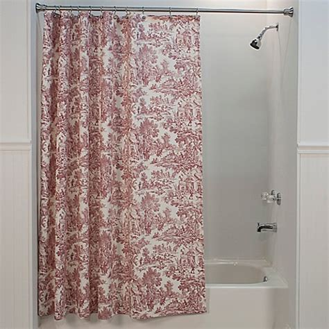 red toile curtains buy victoria park toile shower curtain in red from bed