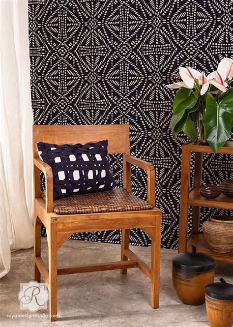 Tribal Batik tribal batik allover stencil royal design studio 20
