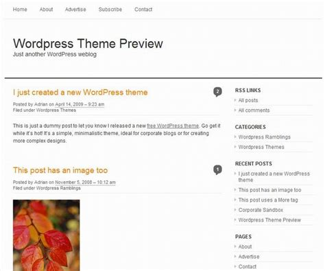a free simple clean wordpress theme dobeweb