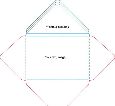 5x7 card template for powerpoint a7 envelope template craft ideas envelopes