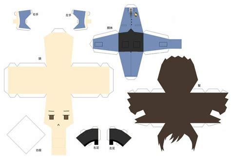 Papercraft Templates Anime - papercraft templates anime papercraft template