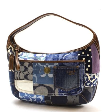 Patchwork Coach Purse - 74 coach handbags coach signature patchwork denim