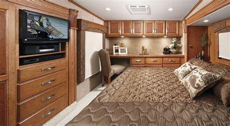 rv bedroom roomy rv bedroom with office space my vision dream