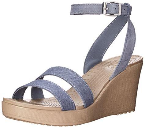 Sandal Wedges Wanita El059 Abu crocs s leigh wedge sandal 8 b m