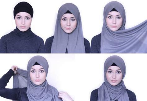 tutorial hijab pashmina segi empat paris
