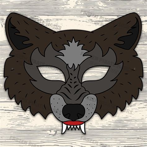 printable werewolf mask 60 off sale big bad wolf mask printable wolf by