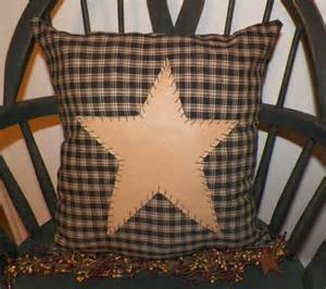 unstuffed primitive pillow cover black barn prim country