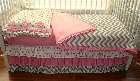 Pink And Gray Chevron Crib Bedding by Pink And Grey Chevron Toddler Bedding Ready To By