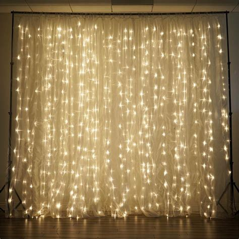 lighted curtains 20 ft x 10 ft led lights organza backdrop curtain ebay