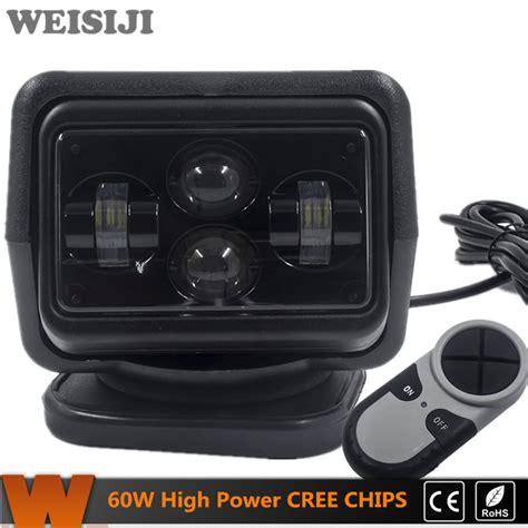 Marine Search Weisiji 1pcs 60w Wireless Led Marine Search Light With Cree Chips Led Search Light