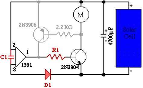 transistor won t start transistors the quot miller quot 1381 solar engine circuit problem electrical engineering stack exchange