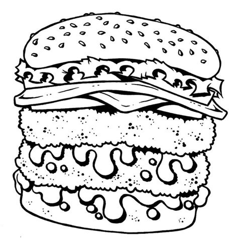 free coloring pages of photos of junk food
