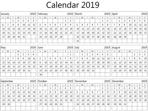 yearly calendar template word  task management