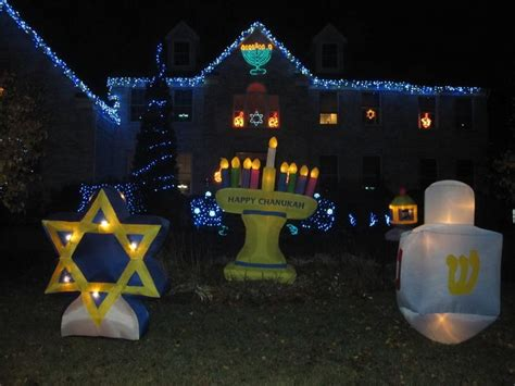 outdoor hanukkah decorations holiday decor pinterest