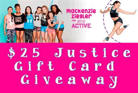 Justice Gift Card - the new mackenzie ziegler for justice active available now 25 justice gift card