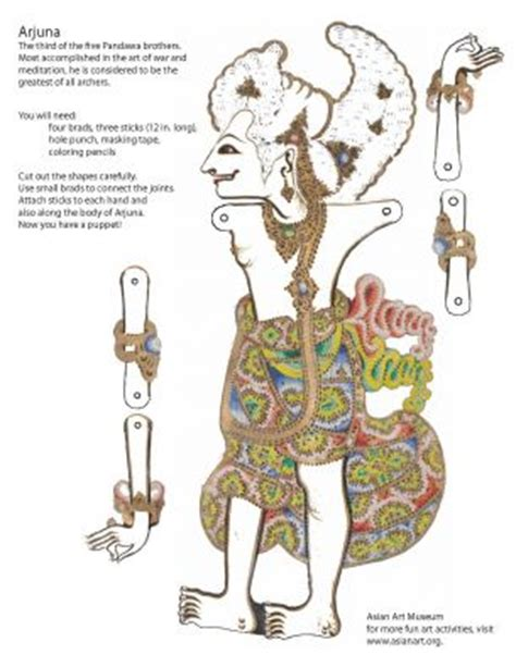 create balinese shadow puppets activity asian art