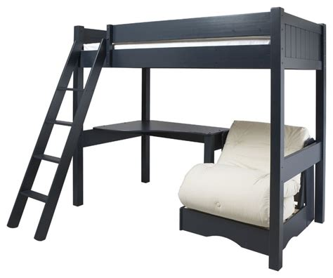 High Sleeper Bed With Futon warwick high sleeper with futon modern beds by aspace