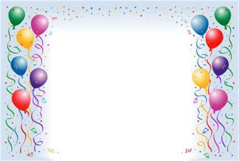 happy birthday photo frame template birthday balloons border fantastic frames 25679wall jpg
