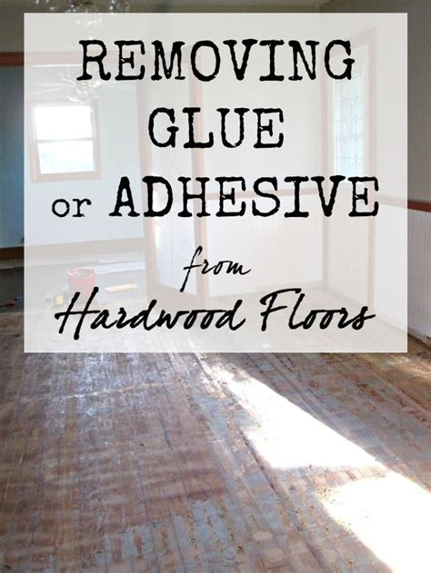How To Remove Floor Glue by The Speckled Goat Removing Glue Or Adhesive From