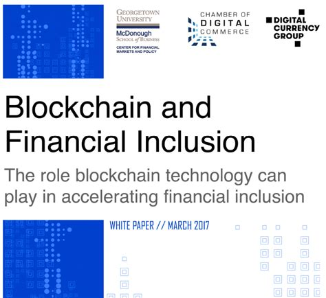 Georgetown Mba Financial Regulation by Center Releases White Paper On Blockchain And Financial