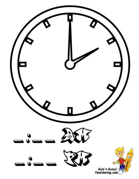 Drawing 8 Hours A Day by Fearless Hours Clock Coloring Clocks Free Telling Time
