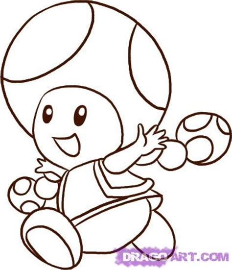 easy mario coloring pages how to draw toadette step by step video game characters