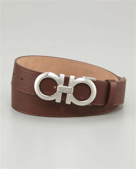 ferragamo gancini belt brown in brown for lyst