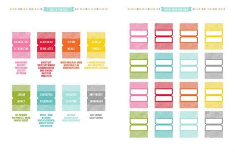 planner tabs printable planner pages instant