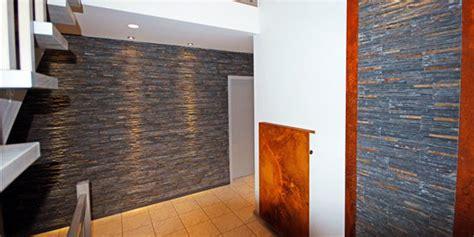 ideen für schmalen flur vorschlaege wandgestaltung wohnzimmer mit stein