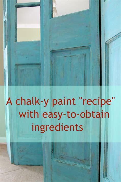 homemade chalk paint recipe  easy  obtain