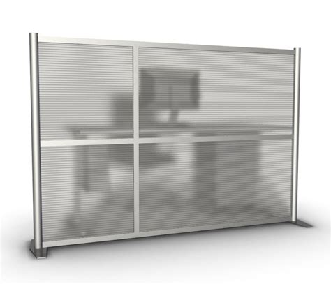 75 quot wide x 51 quot high office partition translucent modern