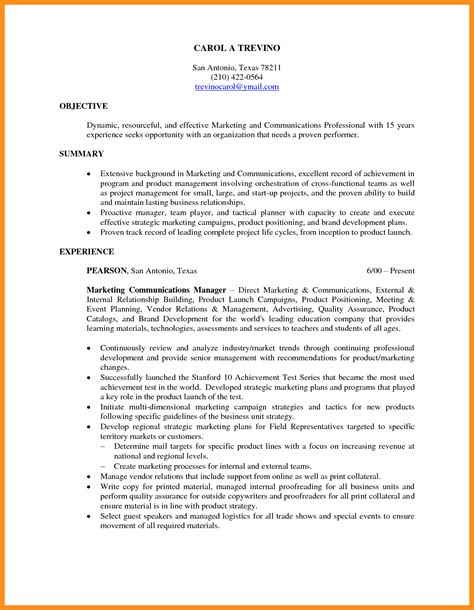 Resume Objective Statement For Management by 10 Resume Objectives For Management Mystock Clerk