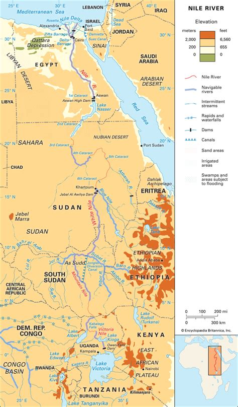 africa map nile river nile river location students britannica