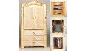 Entertainment Armoire With Pocket Doors Rustic Armoire Entertainment Center W Pocket Doors Lodge