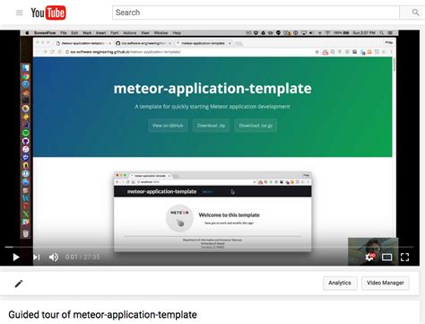 meteor js template meteor application template