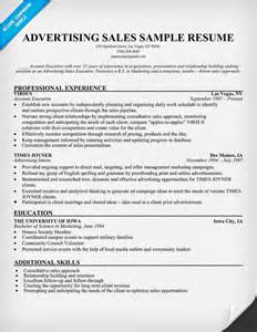 Advertising Consultant Sle Resume by Advertising Sales Resume Sle Marketing Advertising And Pr Internships