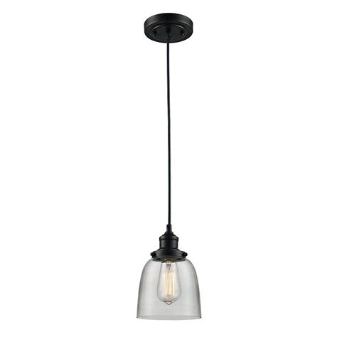 Monteaux Lighting 1 Light Oil Rubbed Bronze Glass Mini Rubbed Bronze Kitchen Pendant Lighting