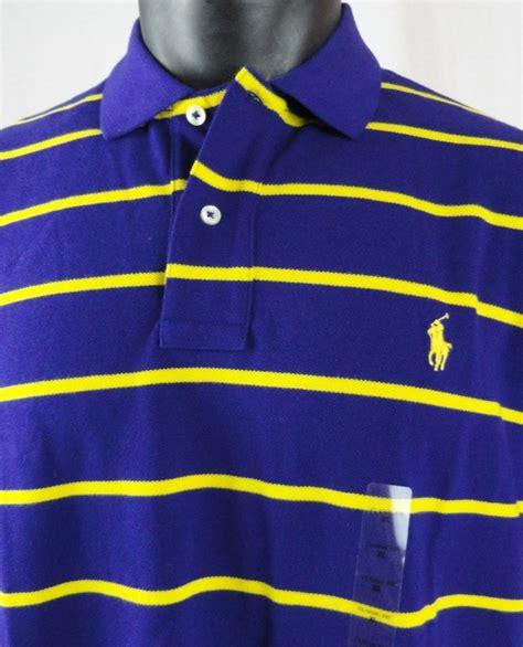 nwt polo ralph mens xl rugby shirt mesh purple