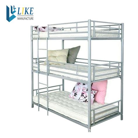 Three Tier Bunk Beds Wholesale Bedroom Furniture Metal 3 Person Bunk Bed Buy 3 Tier Bunk Bed Three Bunk Bed 3