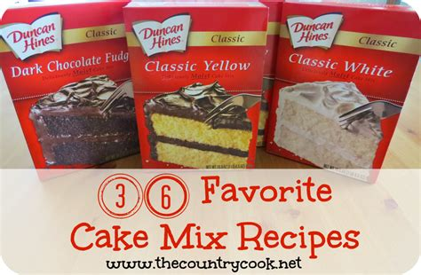cake mix 36 favorite cake mix recipes the country cook
