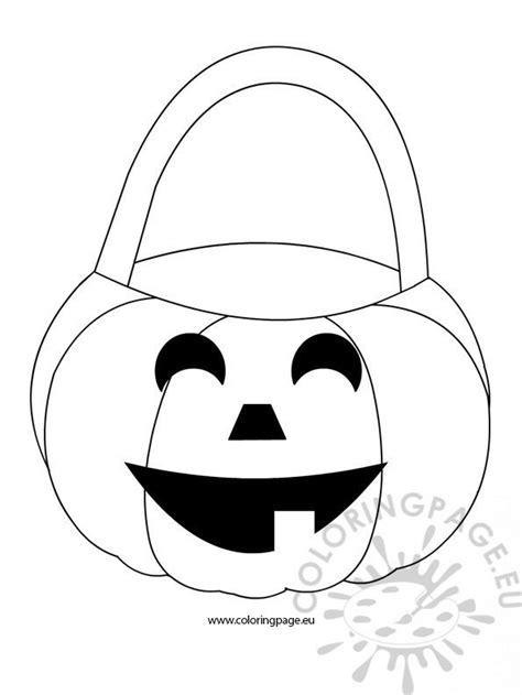 pumpkin basket coloring page