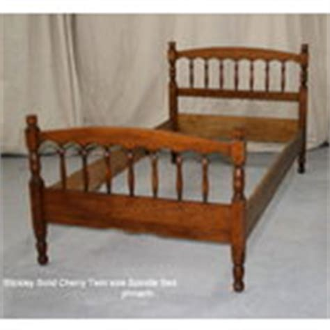 spindle bed frame l j g stickley cherry twin single spindle bed frame 02 08 2007