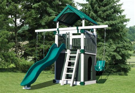 small yard swing set vinyl swing set kc 1 premium 4 the lil guy pinterest